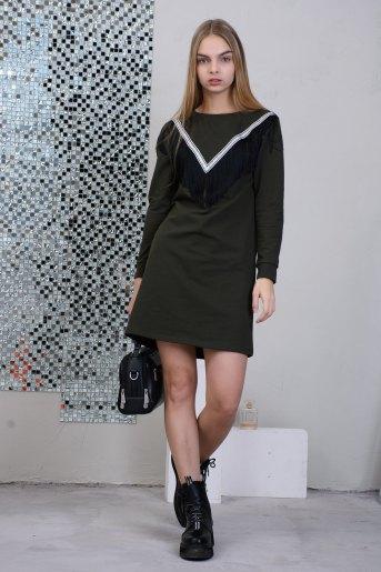Платье 2645 (N) (Хаки) - Злата