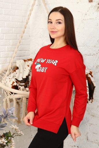 Толстовка 3693 (N) (Красный) (Фото 2)