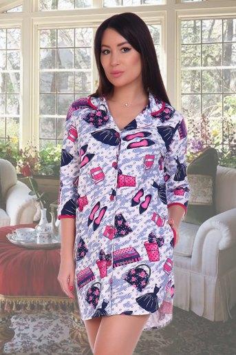Пижама-рубашка 6316 (N) (Туфли) - Злата
