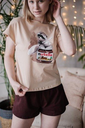 Женская пижама ЖП 022 (T) (Принт нутелла) - Злата