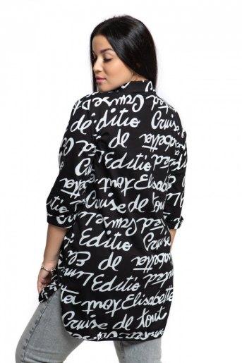 """445 Рубашка """"Буквы на черном"""" (ST) (Фото 2)"""