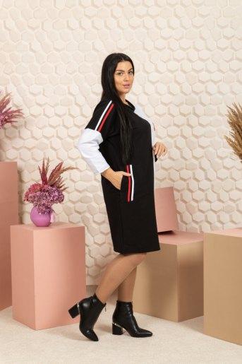 """791 Платье """"черный/белый"""" (ST) (Фото 2)"""