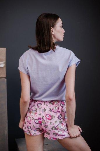 Женская пижама ЖП 022 (T) (Сиреневый_принт совы) (Фото 2)