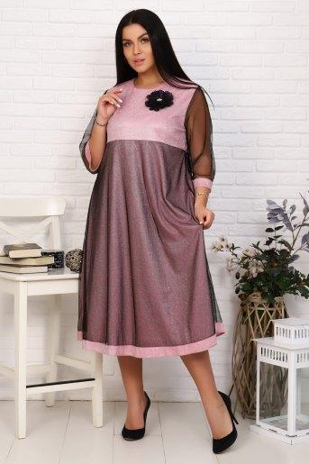 Платье 2399 (N) (Розовый) - Злата