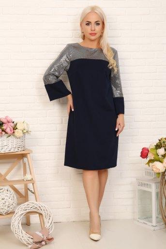 Платье 10371 (N) (Синий) - Злата