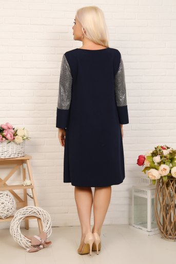 Платье 10371 (N) (Синий) (Фото 2)