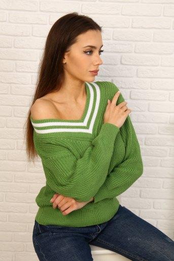 Джемпер 6596 (N) (Зеленый) - Злата