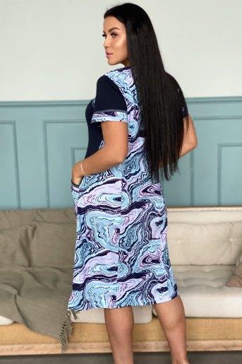 Платье 9029 (N) (Голубой) (Фото 2)