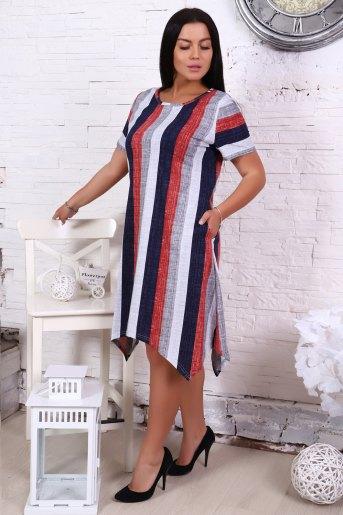 Платье 4852 (N) (Полоса) (Фото 2)