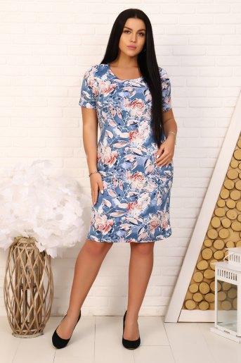 Платье 6931 (N) (Голубой) - Злата