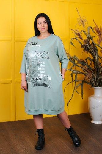 Платье 4546 (N) (Зеленый) - Злата