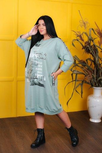 Платье 4546 (N) (Зеленый) (Фото 2)