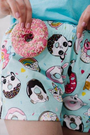 Женская пижама ЖП 022 (T) (Голубой_принт пончики) (Фото 2)