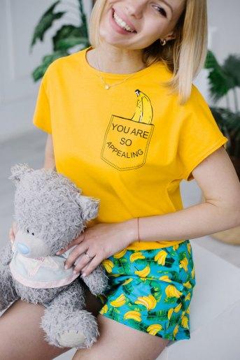 Женская пижама ЖП 022 (T) (Принт бананы в кармане) (Фото 2)