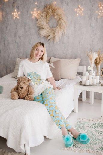 Женская пижама ЖП 039 (T) (Принт девочка со слоном) - Злата