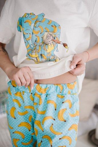Женская пижама ЖП 039 (T) (Принт девочка со слоном) (Фото 2)
