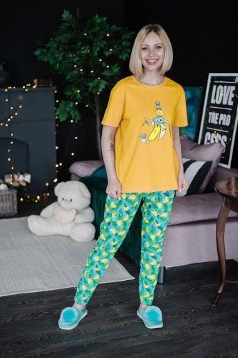 Женская пижама ЖП 024 (T) (Принт смешарики в банане) - Злата