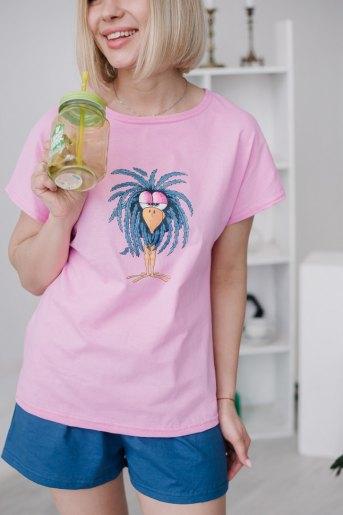 Женская пижама ЖП 022 (T) (Принт синяя птица) - Злата