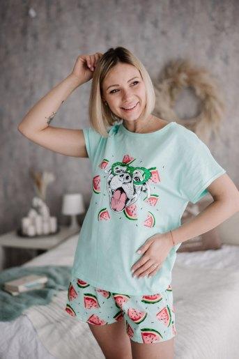 Женская пижама ЖП 022 (T) (Принт пес в очках) - Злата