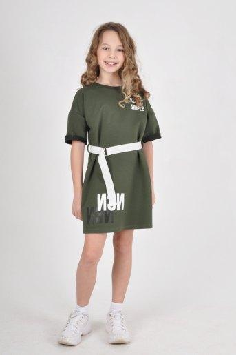 Платье 1476 детское (N) (Хаки) - Злата