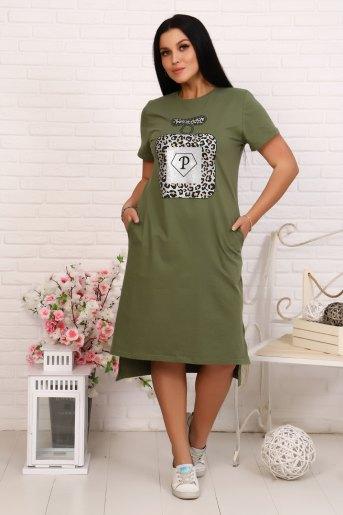 Платье 12848 (N) (Хаки) - Злата