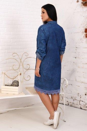 Платье 6951 (N) (Синий) (Фото 2)