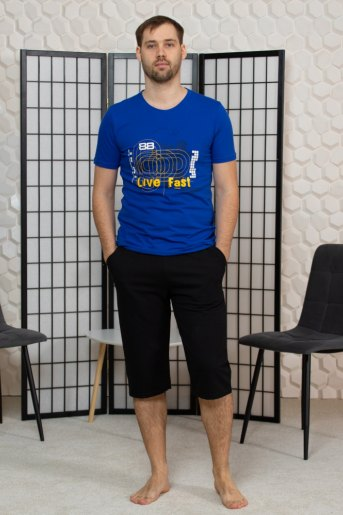 "М42 Футболка мужская ""василек"" (ST) - Злата"