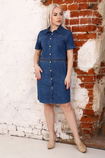 Платье 6952 (N) (Синий) - Злата