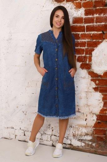 Платье 6954 (N) (Синий) - Злата