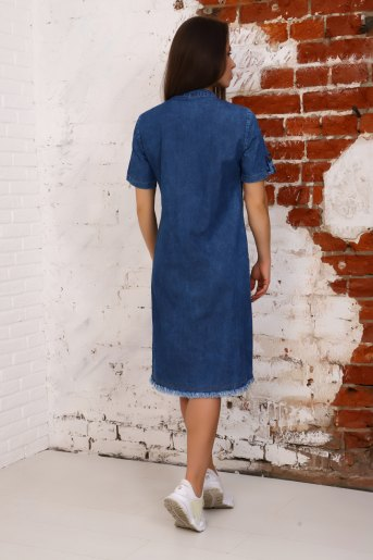 Платье 6954 (N) (Синий) (Фото 2)