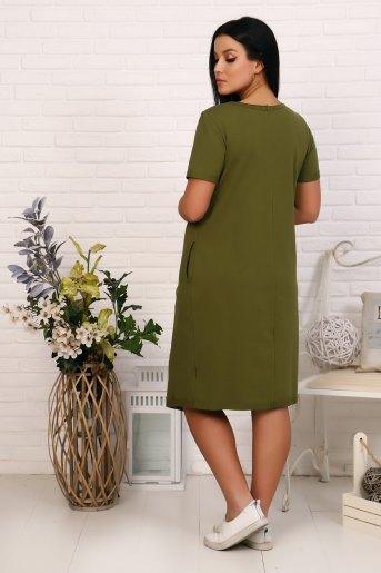 Платье 19002 (N) (Хаки) (Фото 2)