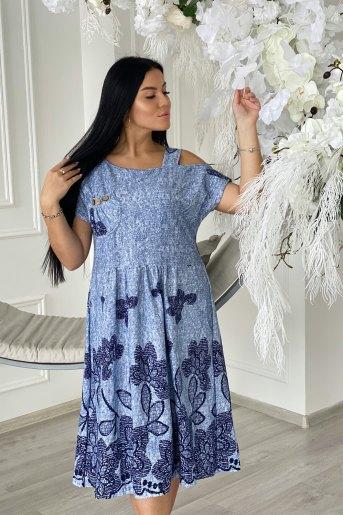 Платье 7228 (N) (Голубой) - Злата