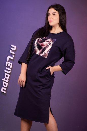 Платье 13414 (N) (Синий) - Злата