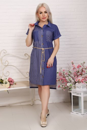 Платье 4855 (N) (Полоса) - Злата