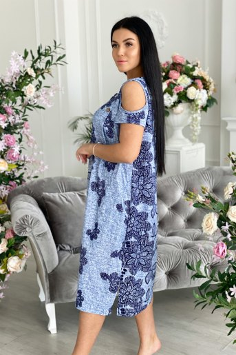 Платье 7230 (N) (Голубой) (Фото 2)