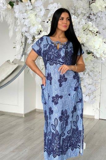 Платье 7227 (N) (Голубой) - Злата