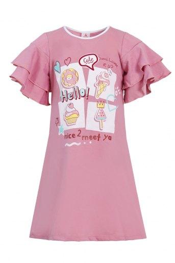 Платье Сусана детское (N) (Розово-брусничный) - Злата