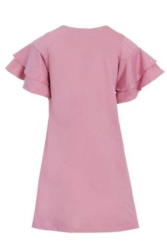 Платье Сусана детское (N) (Розово-брусничный) (Фото 2)