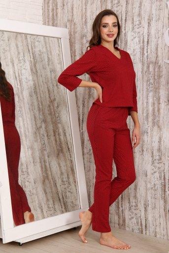 Пижама 33501 (N) (Клетка_красный) - Злата