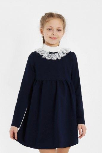 Платье Школа-3 детское (N) (Темно-синий) - Злата