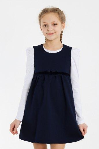 Сарафан Школа-1 детский (N) (Темно-синий) - Злата