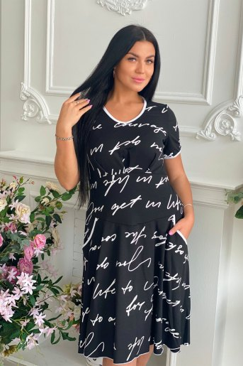 Платье 9040 (N) (Черный) - Злата