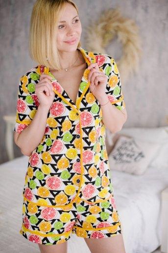 Женская пижама ЖП 060 (T) (Принт цитрусы) - Злата