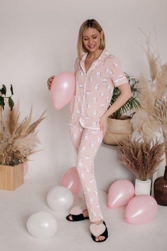 Женская пижама ЖП 061 (T) (Принт заяц) - Злата
