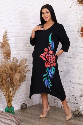 Платье 6180 (N) (Черный) - Злата