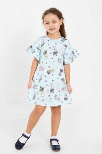 Платье Верона детское (N) (Голубой) - Злата