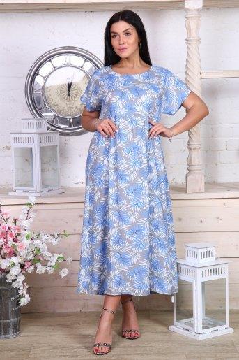 Платье 35001 (N) (Цветы) - Злата