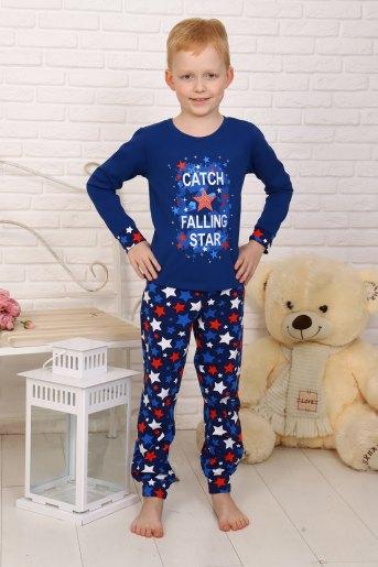 Пижама Галактика детская (N) (Темно-синий) - Злата