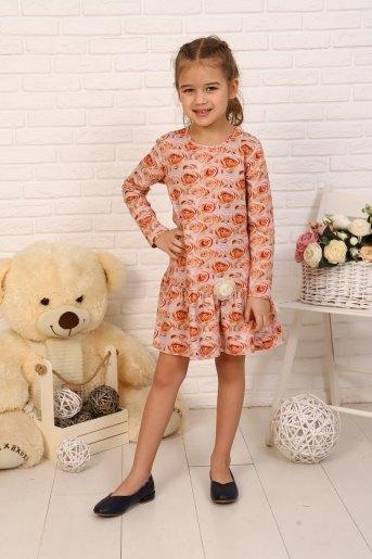Платье Бутон детское (N) (Персик) - Злата