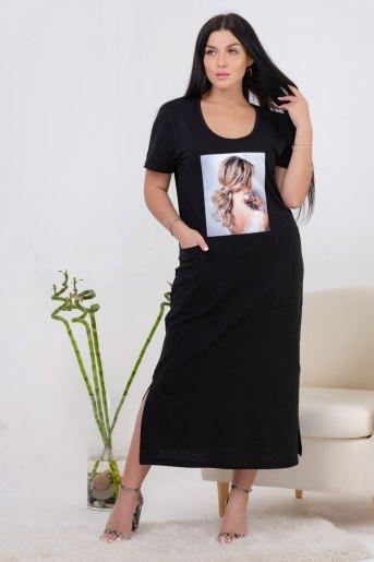 Платье 13459 (N) (Черный) - Злата